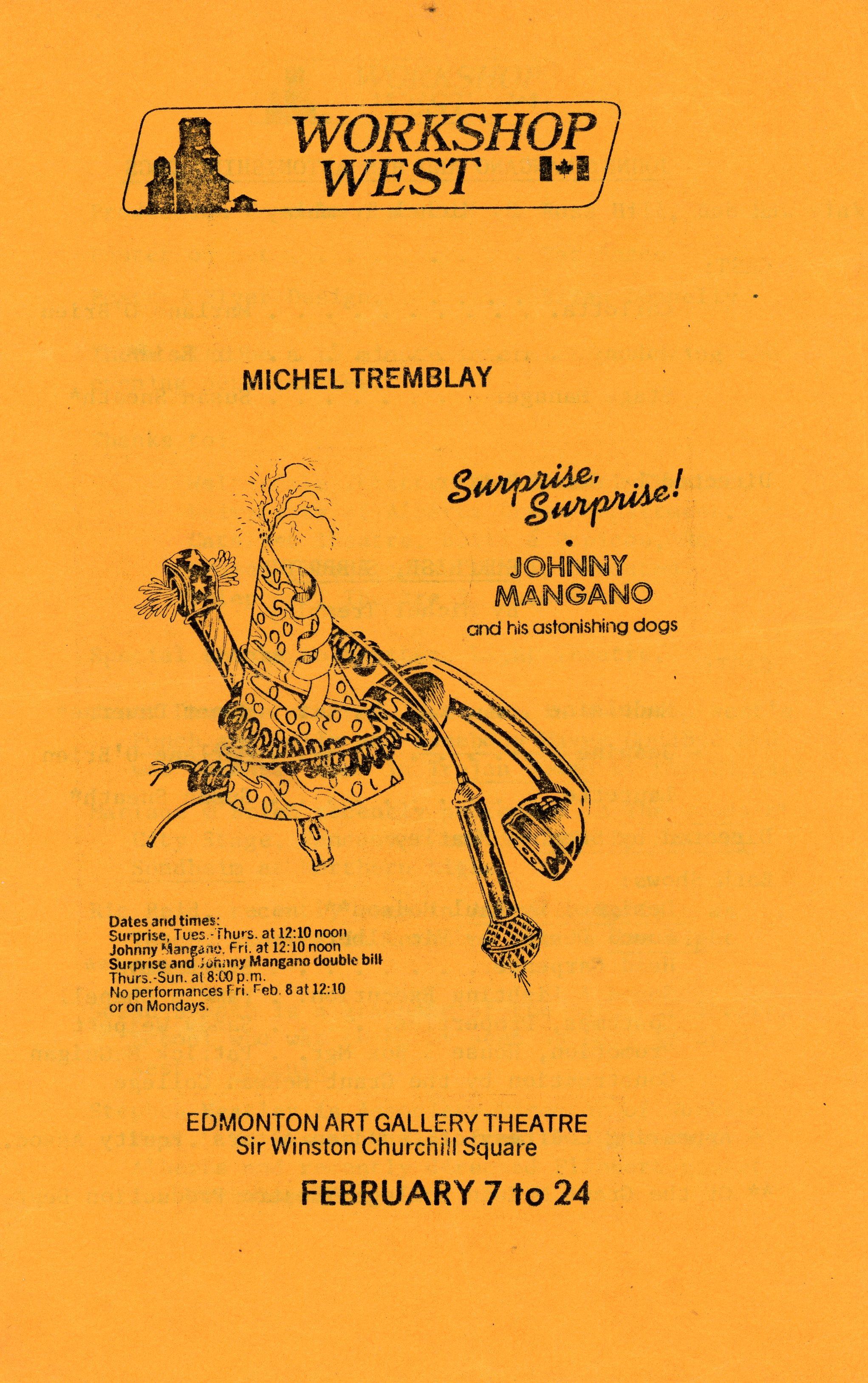 Surprise, Surprise! (February, 1980) - Program Cover.jpg