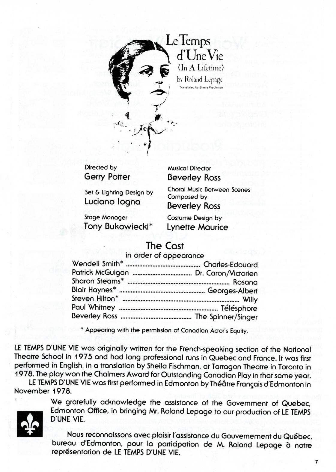 Le Temps D Une Vie [In a Lifetime] (May, 1981) - Program Book-page-002.jpg