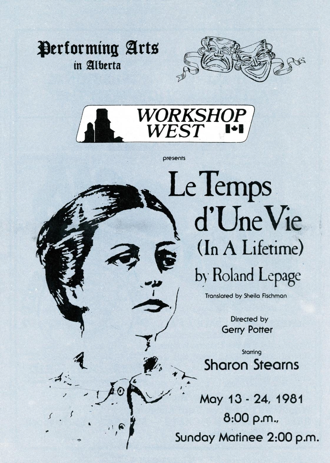 Le Temps D Une Vie [In a Lifetime] (May, 1981) - Program Book-page-001.jpg