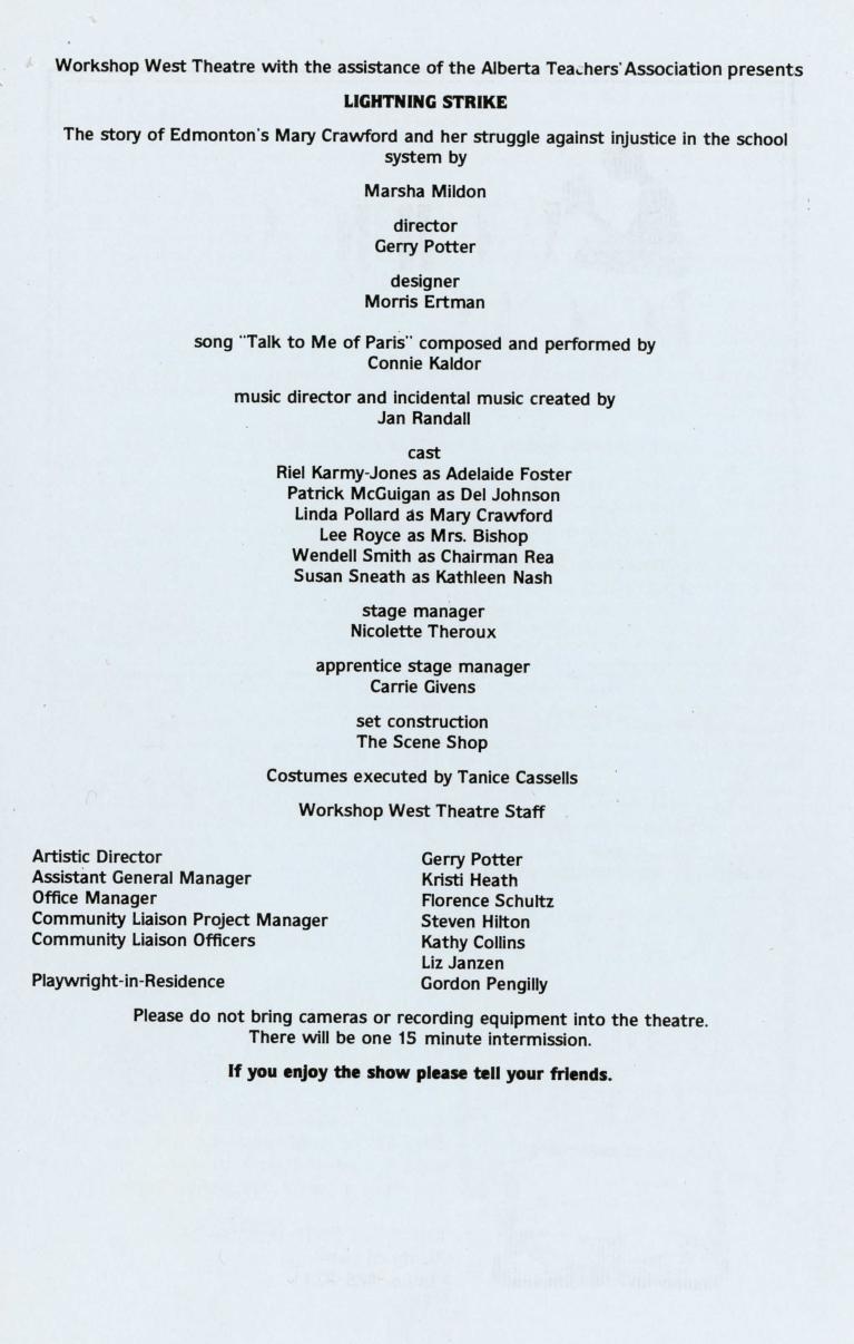 Lightning Strike (February, 1984) - Program Information-page-001.jpg