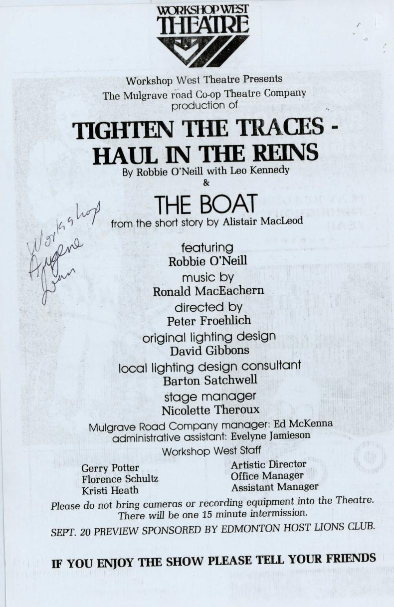 Tighten the Traces - Haul in the Reins (September, 1983) - Program Information-page-001.jpg