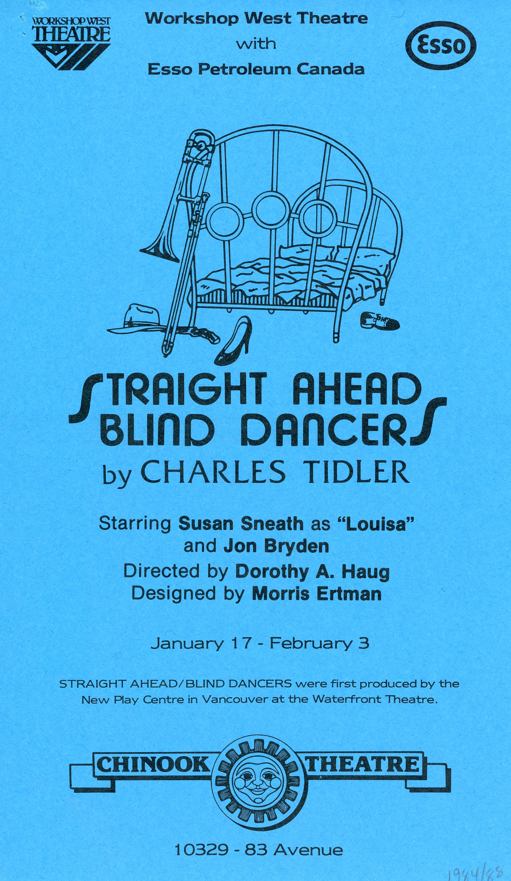 Straight Ahead, Blind Dancers (January, 1985) - Program Cover.jpg