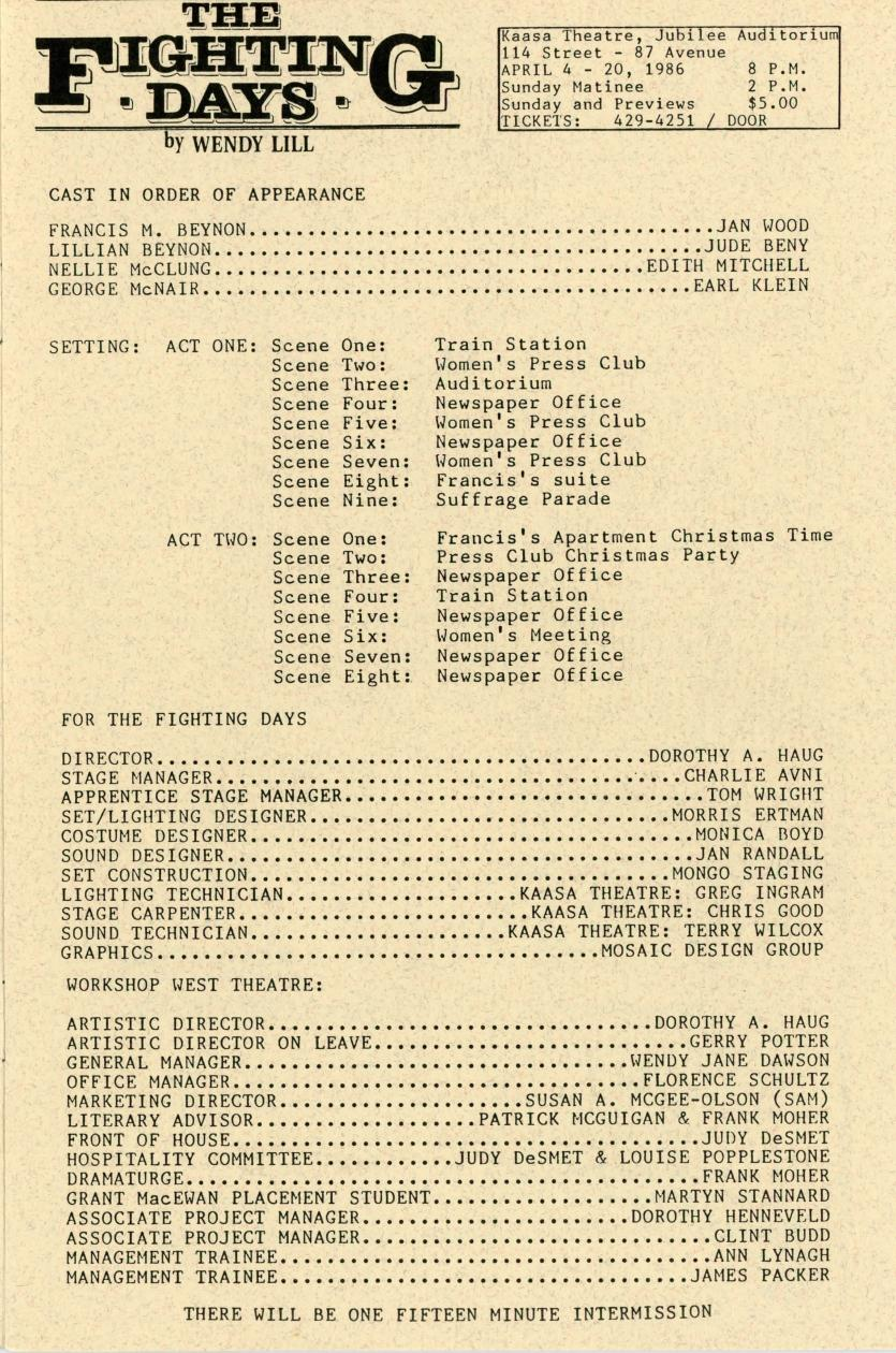 The Fighting Days (April, 1986) - Production Information-page-001.jpg
