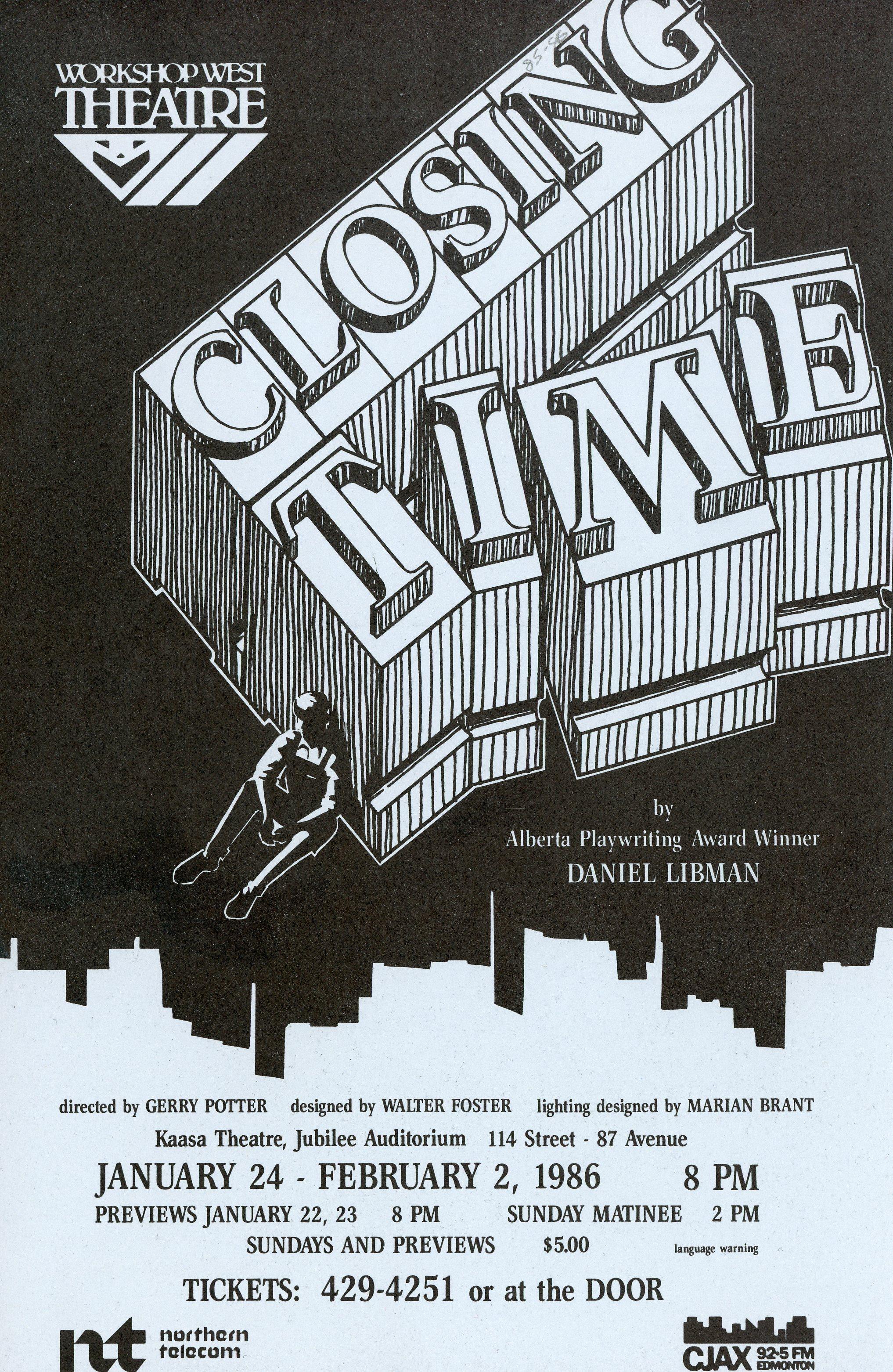 Closing Time (January, 1986) - Program Cover.jpg