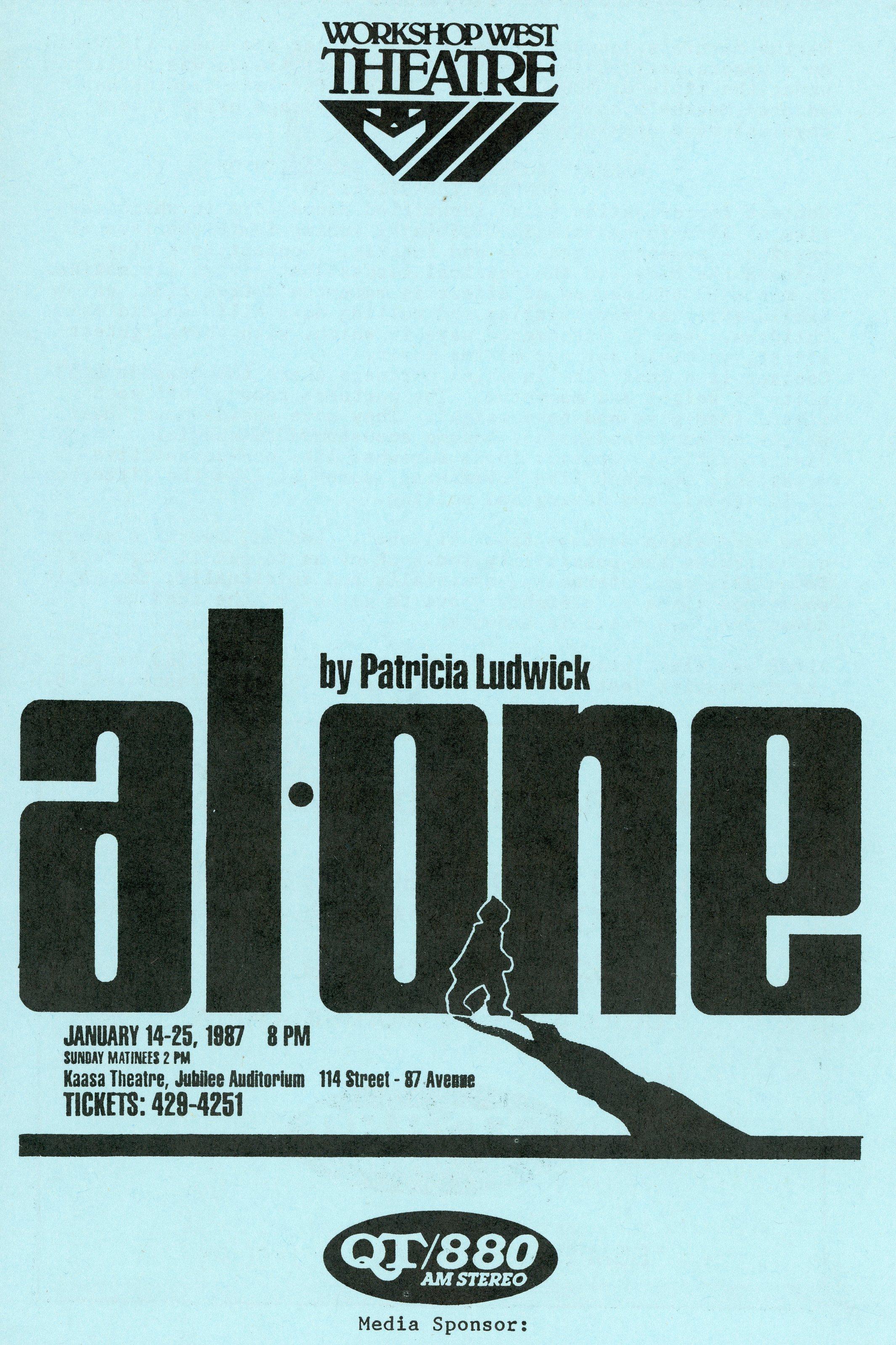 Alone (January, 1987) - Program Cover.jpg