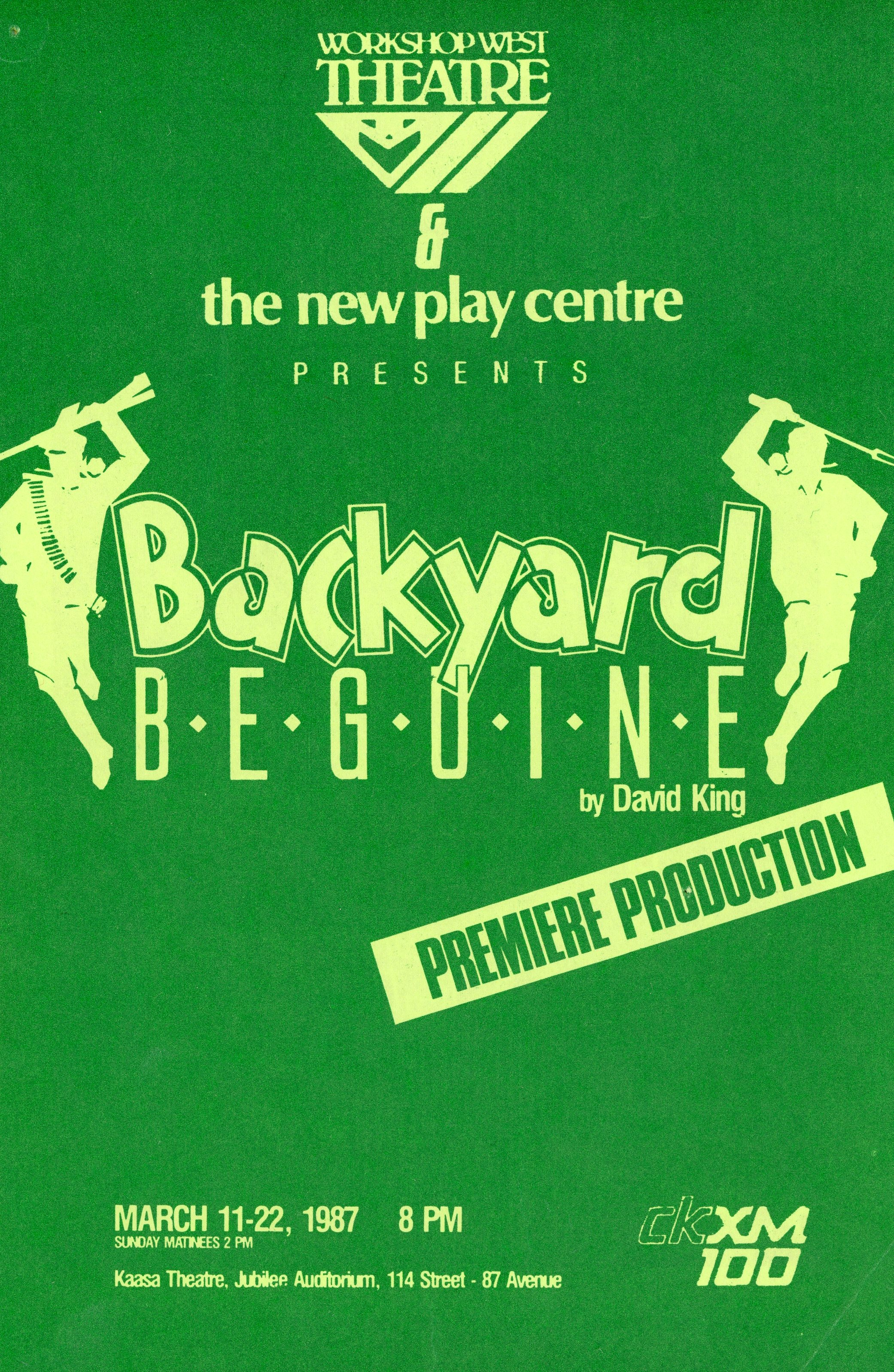 1986/87 Season — Workshop West Playwrights' Theatre | Real