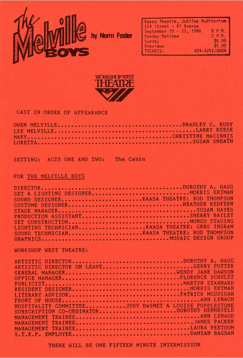 The Meville Boys (September, 1986) - Production Information-page-001.jpg
