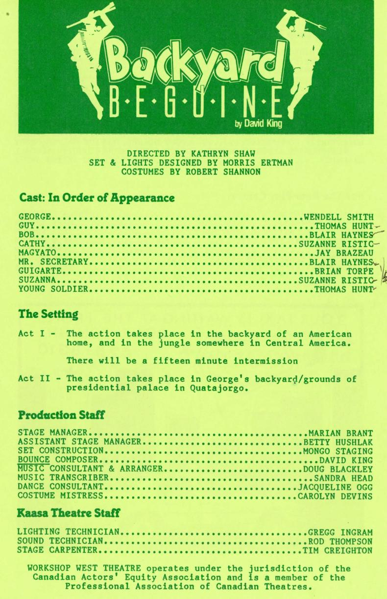 Backyard Beguine (March, 1987) - Production Information-page-001.jpg