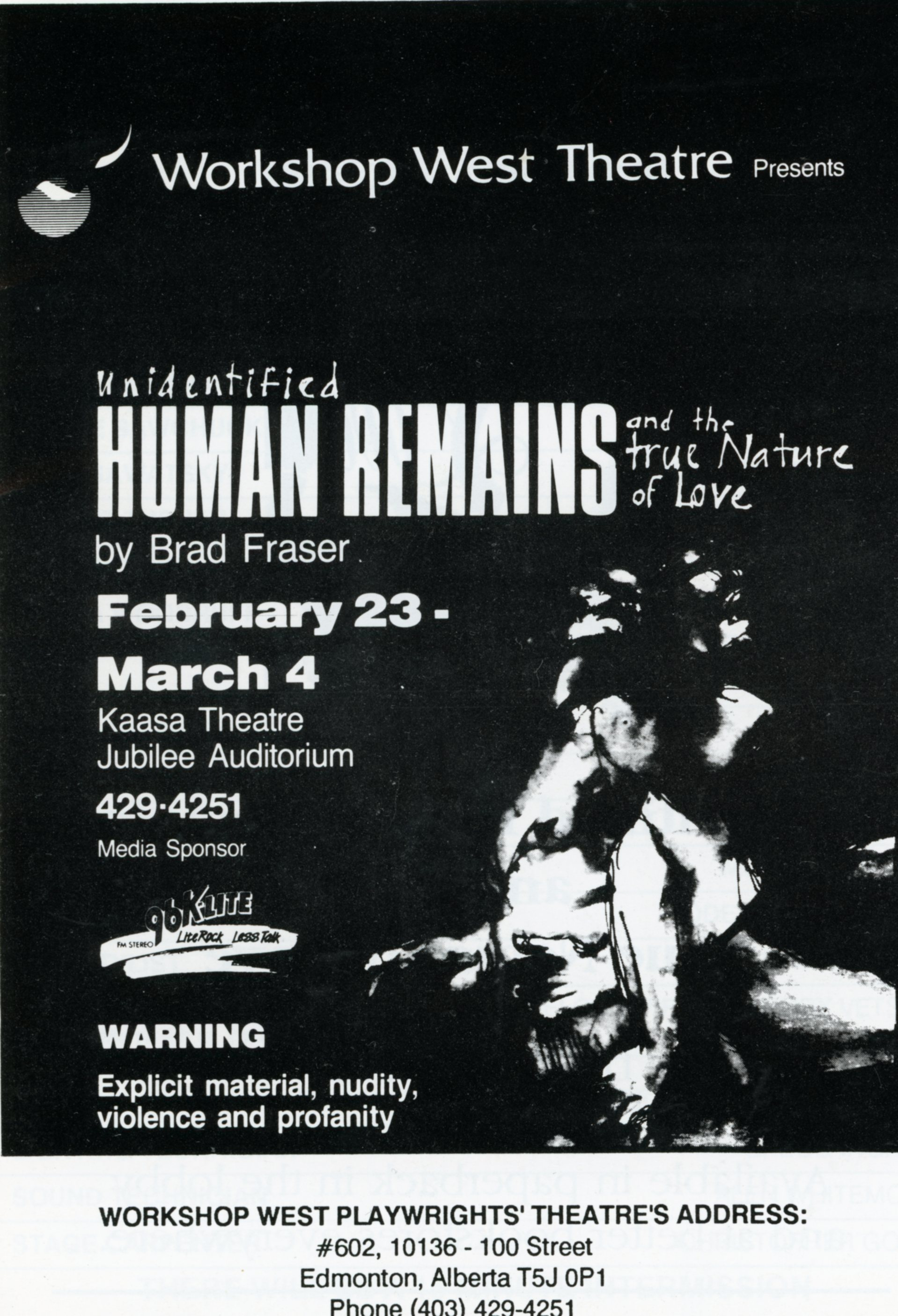 Unidentified Human Remains and The True Nature of Love (February, 1990)-Program Cover JPEG.jpg