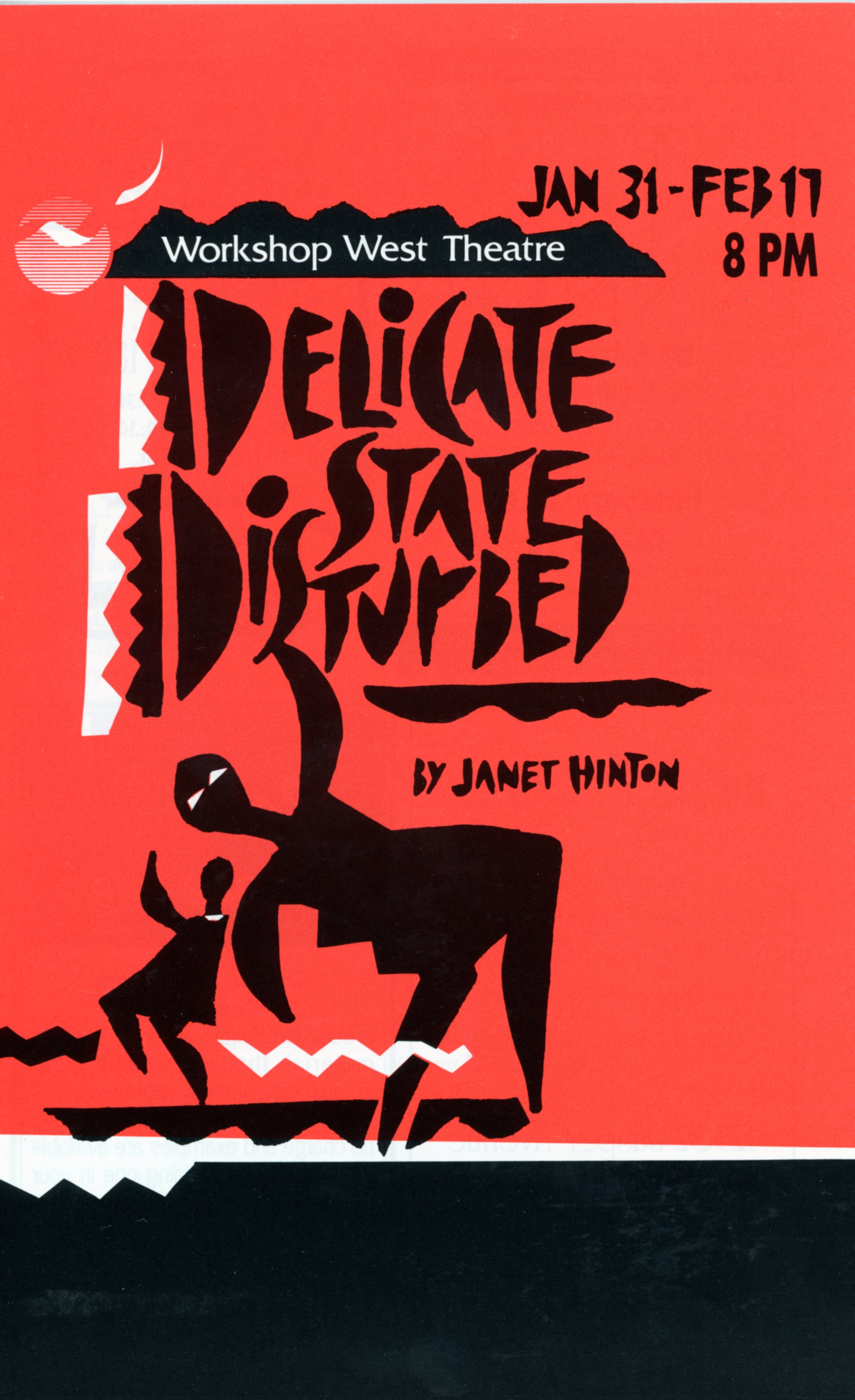 Delicate State Distrubed (January, 1991)-Program Cover JPEG.jpg