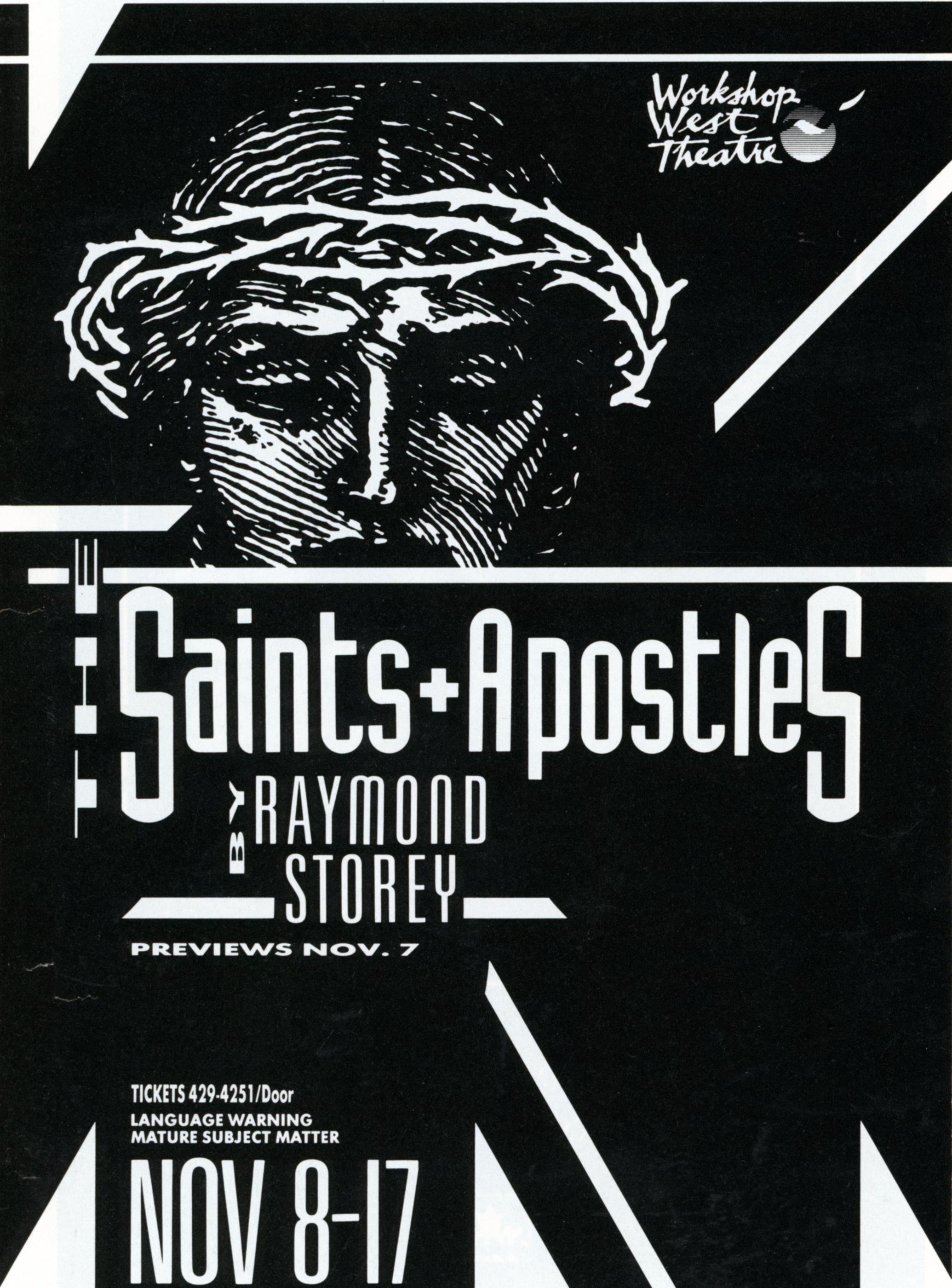 The Saints And Apostles (November, 1991) -Program Cover JPEG.jpg
