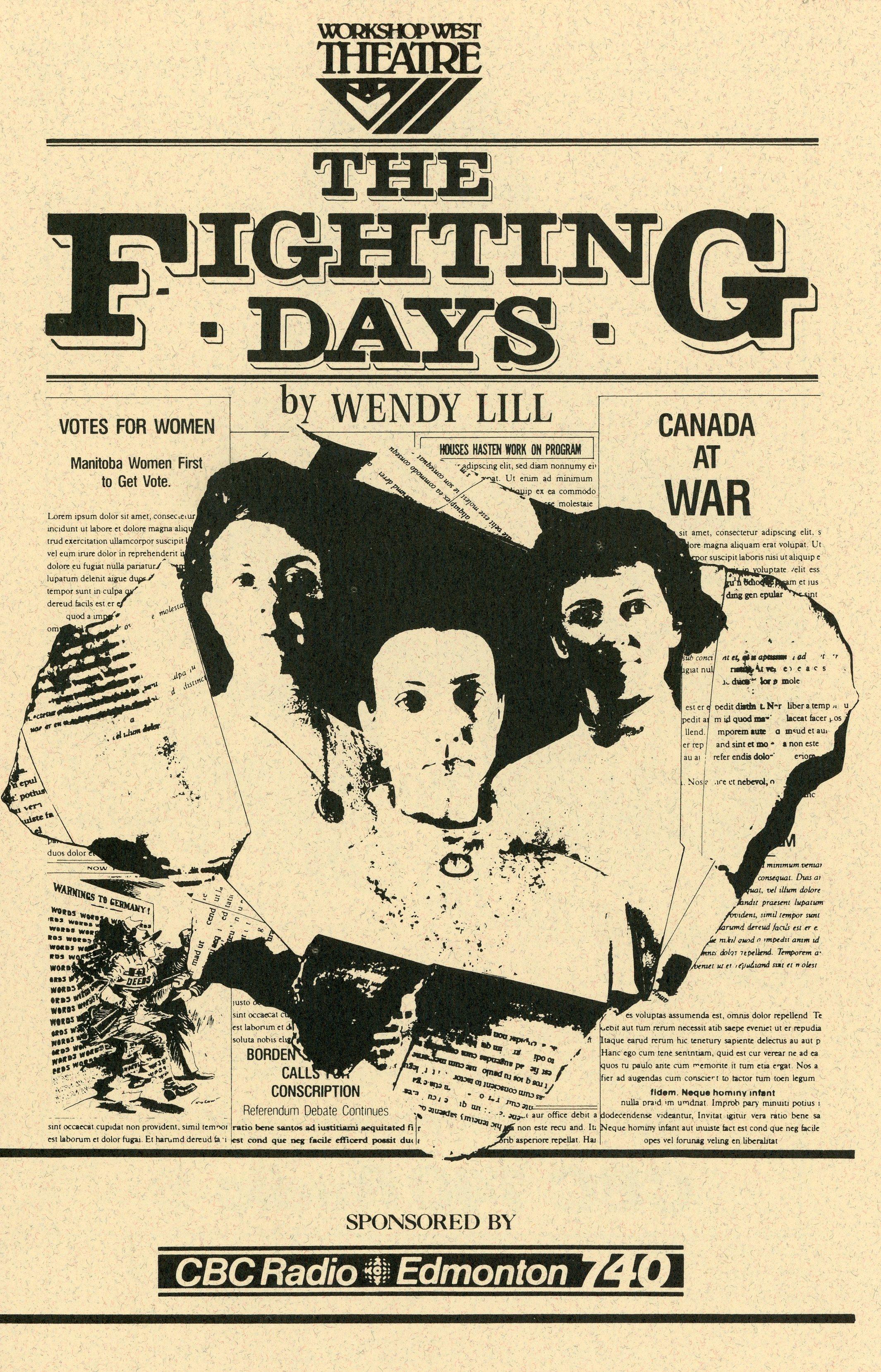 The Fighting Days (April, 1986) - Program Cover.jpg