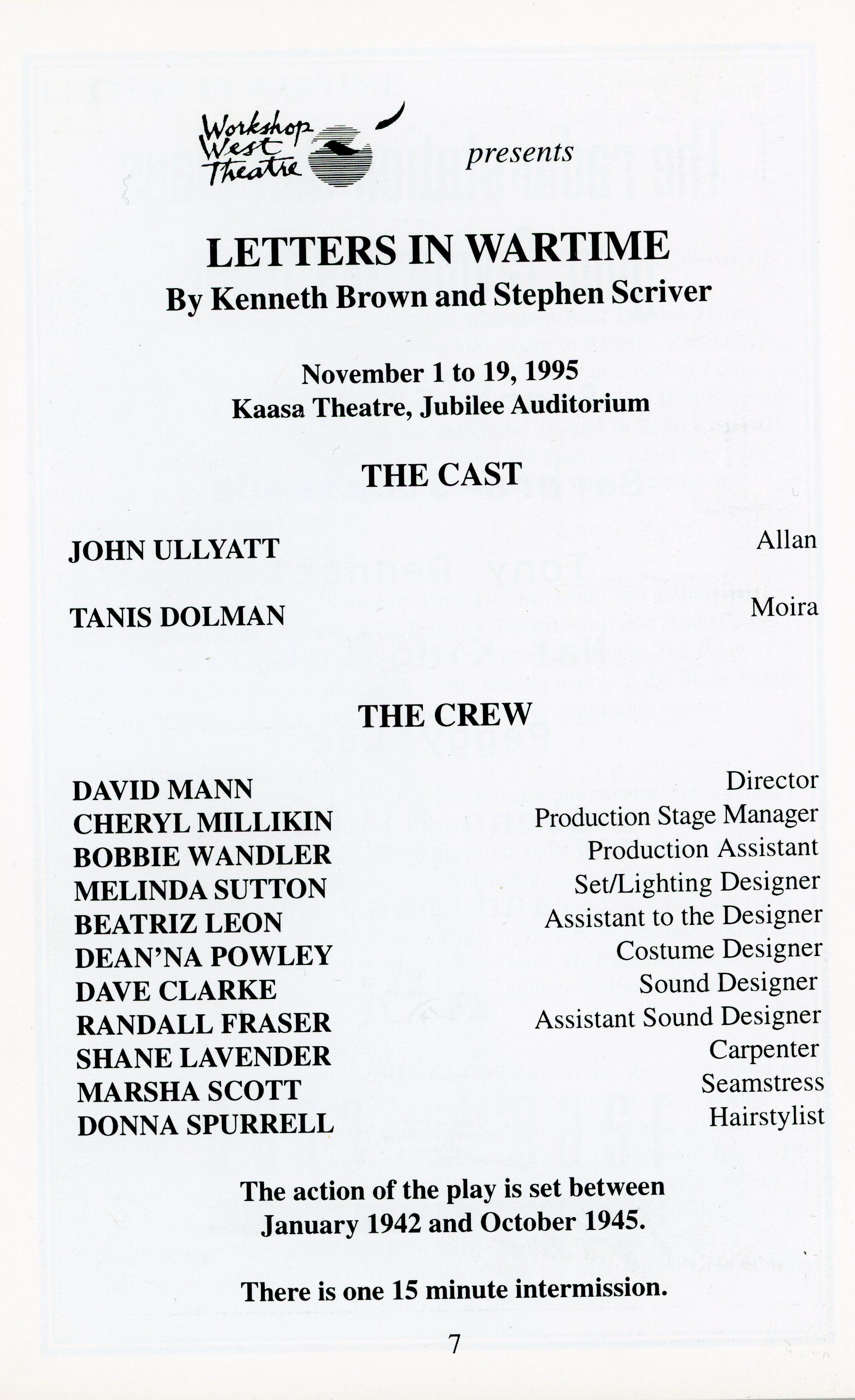 Letters in Wartime (Nov 1995)-Production Information_JPEG.jpg
