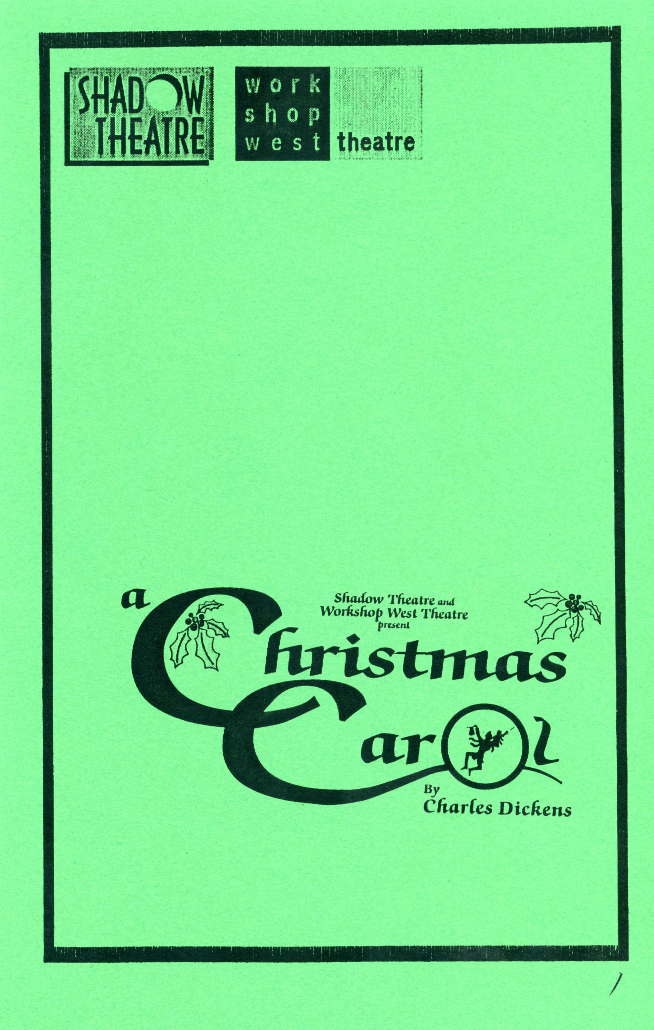 A Christmas Carol (December, 1998)-Production Cover_JPEG.jpg