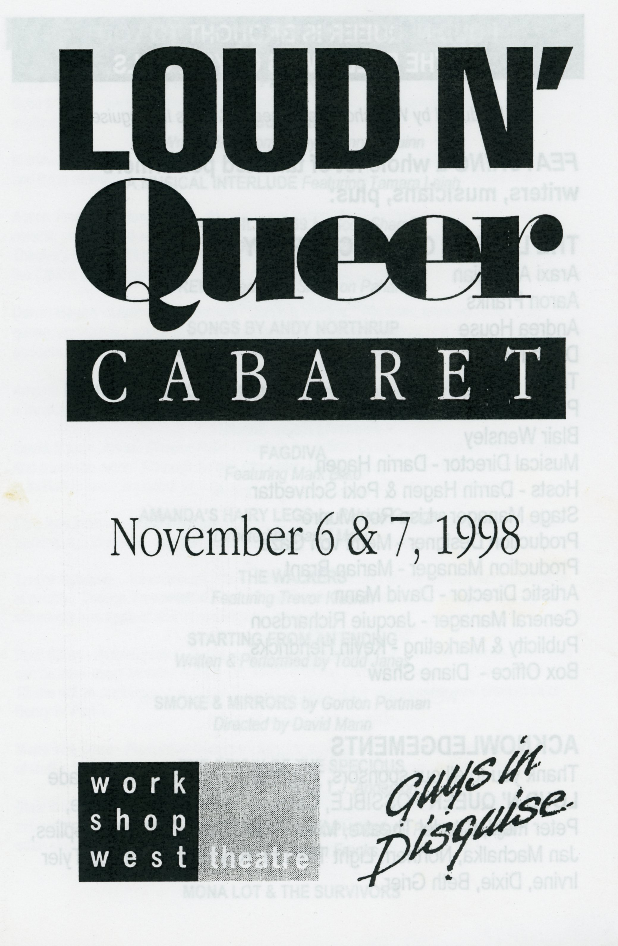 Loud and Queer (November, 1998)-Production Cover_JPEG.jpg