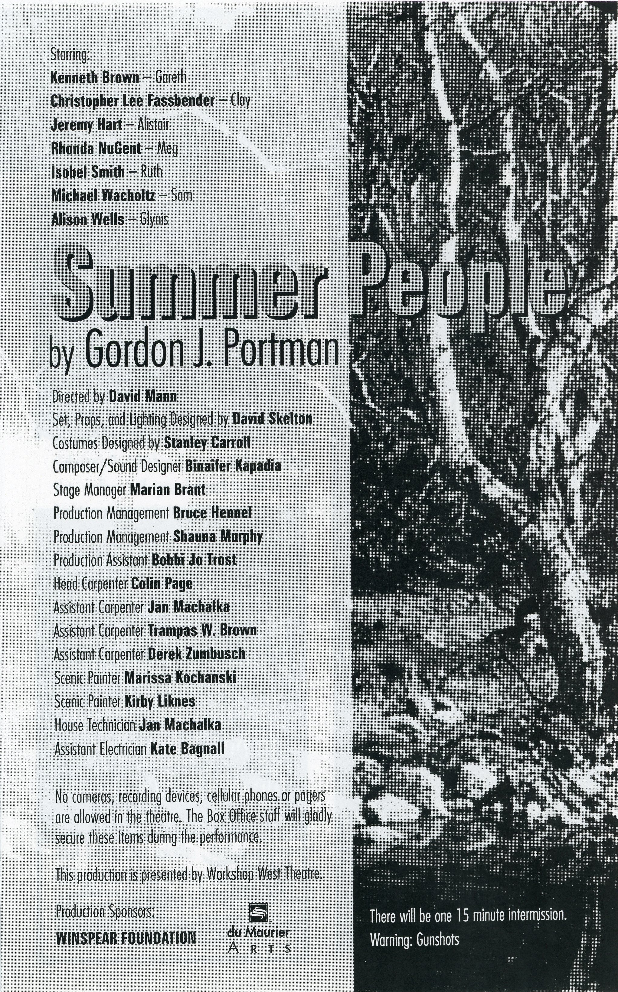 The Summer People (October,1998)-Production Information_JPEG.jpg