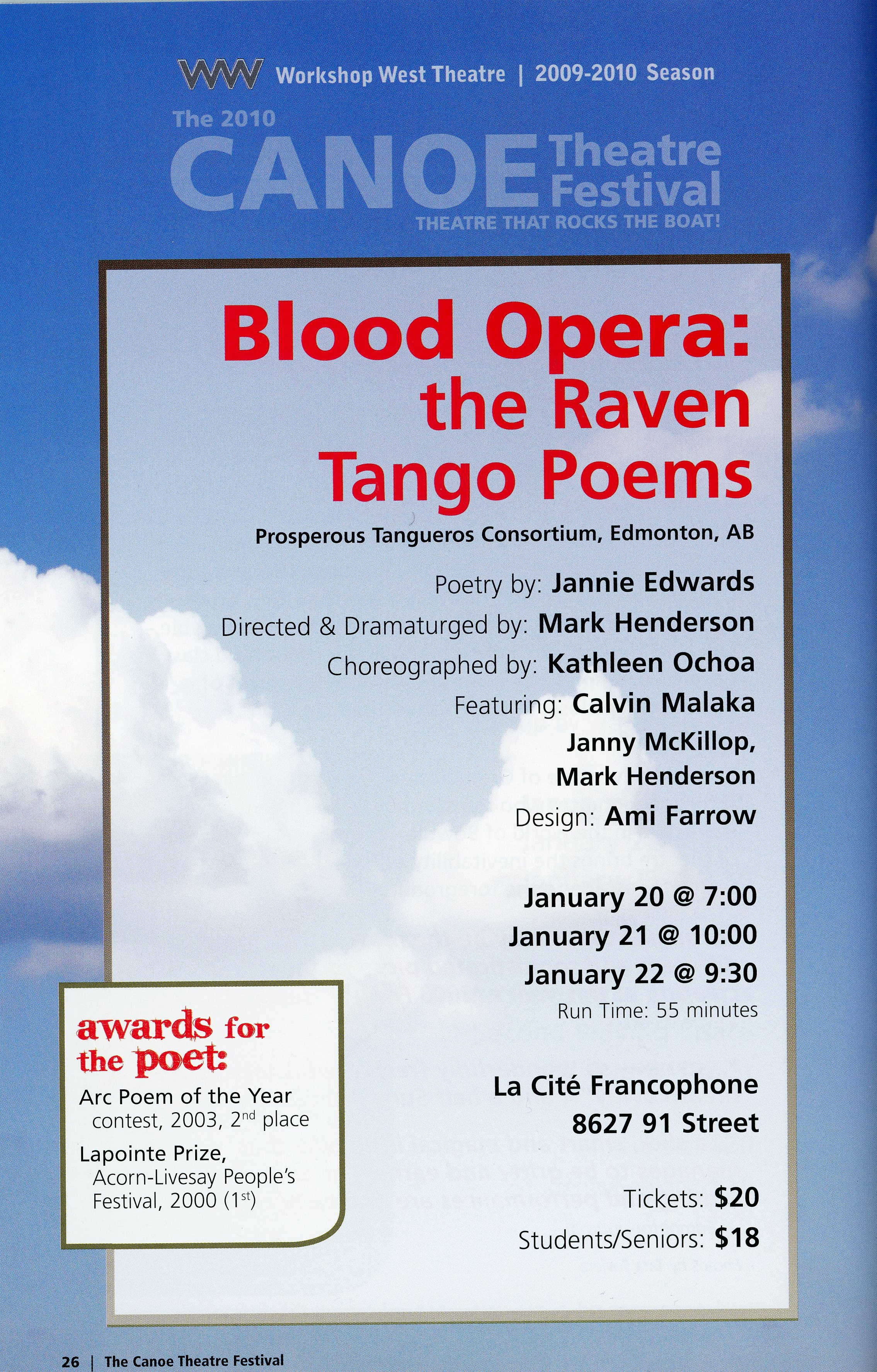 The Canoe Festival (2009-2010)_Production Information-Blood Organce The Raven Tango Poems_JPEG.jpg
