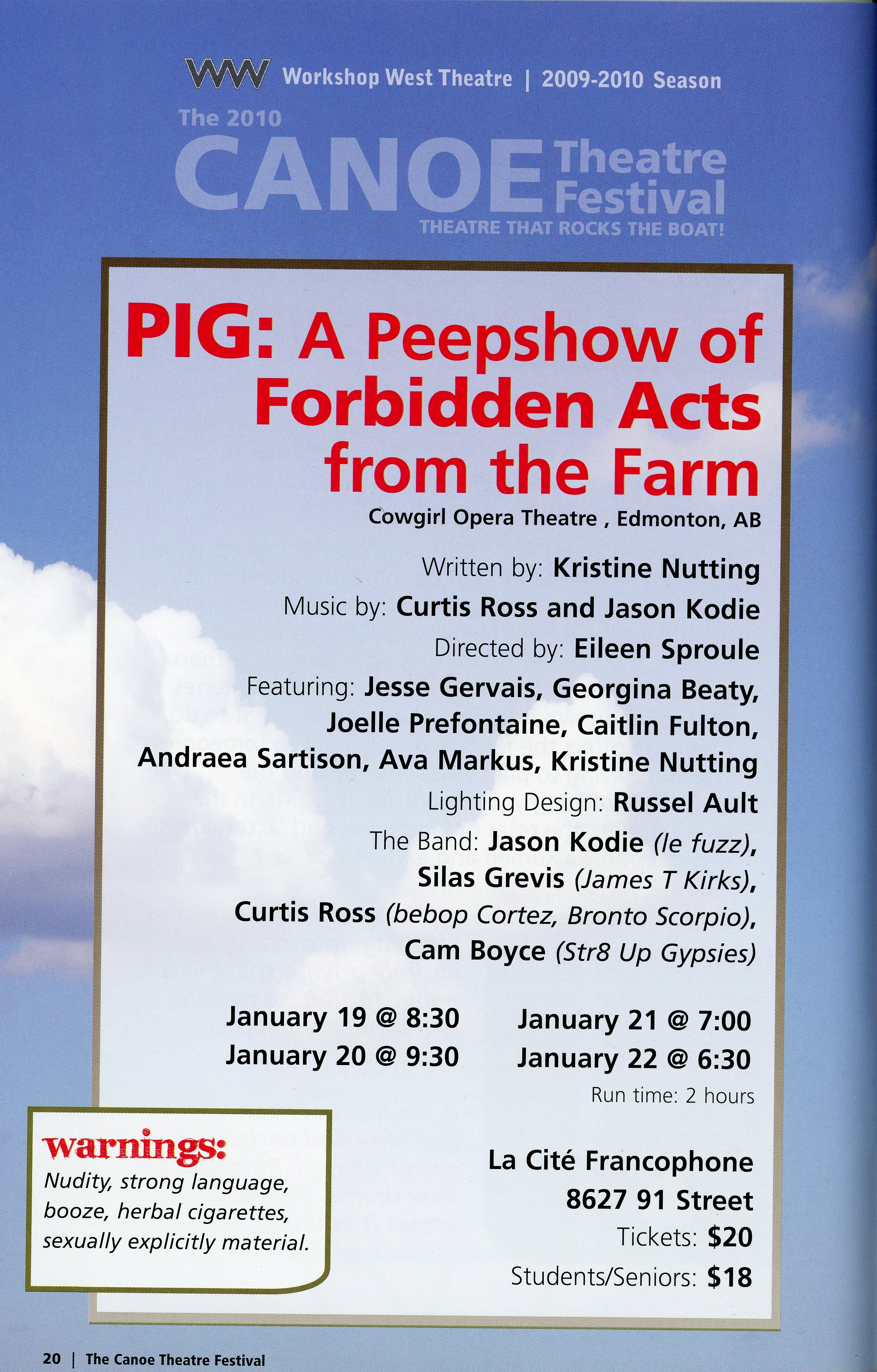 The Canoe Festival (2009-2010)_Production Information-PIG A peepshow of Forbidden Acts From the Farm_JPEG.jpg
