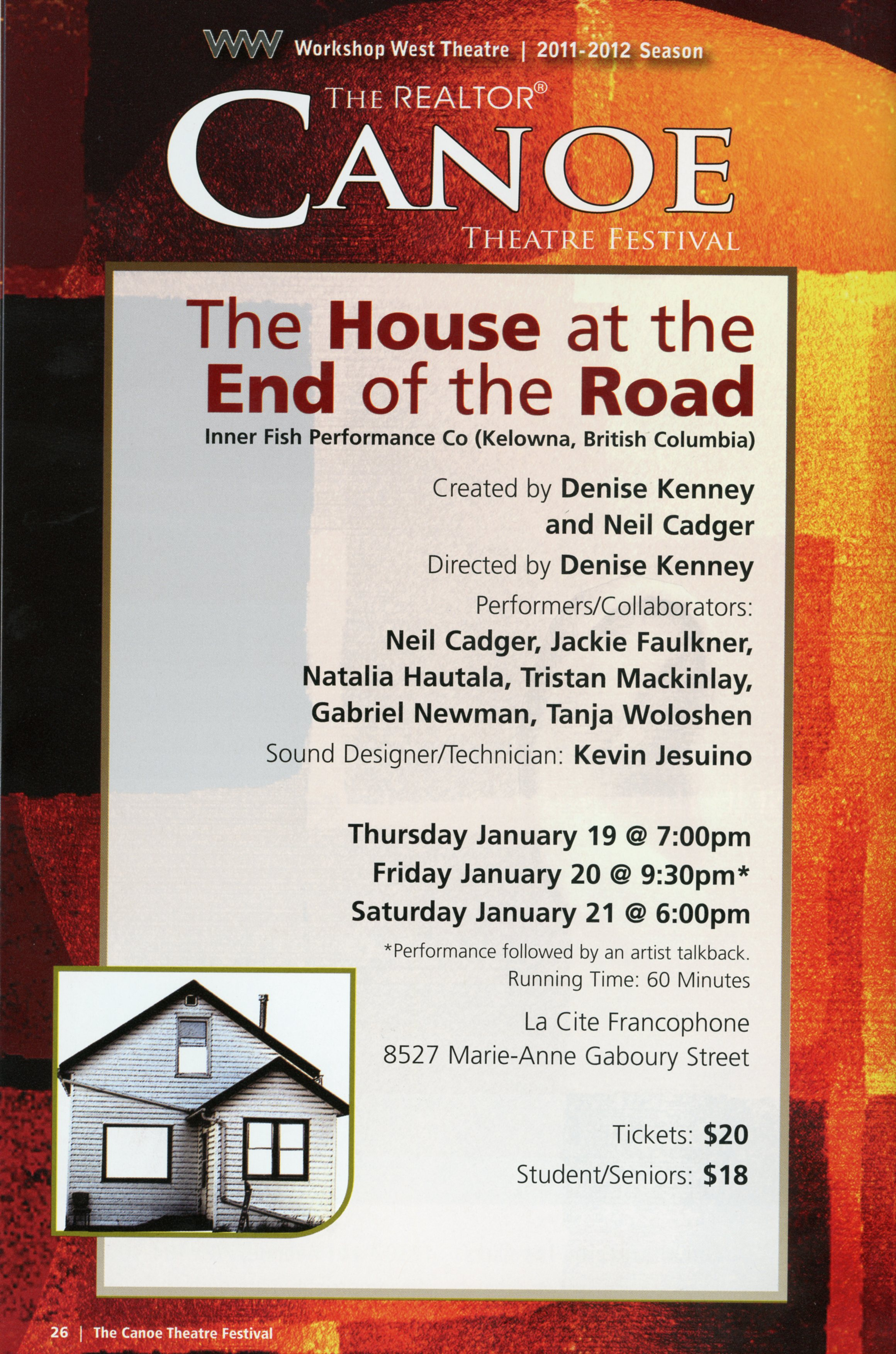 Canoe Theatre Festival (January, 2012)- Production  Information-The House at the End of The Road_JPEG.jpg