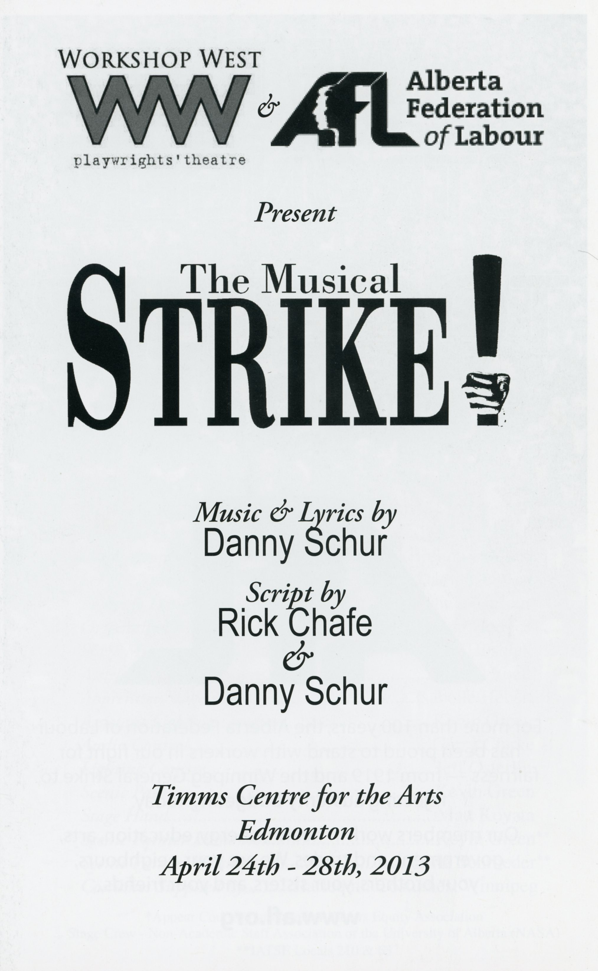 The Musical Strike (April 2013)-Production Cover_JPEG.jpg