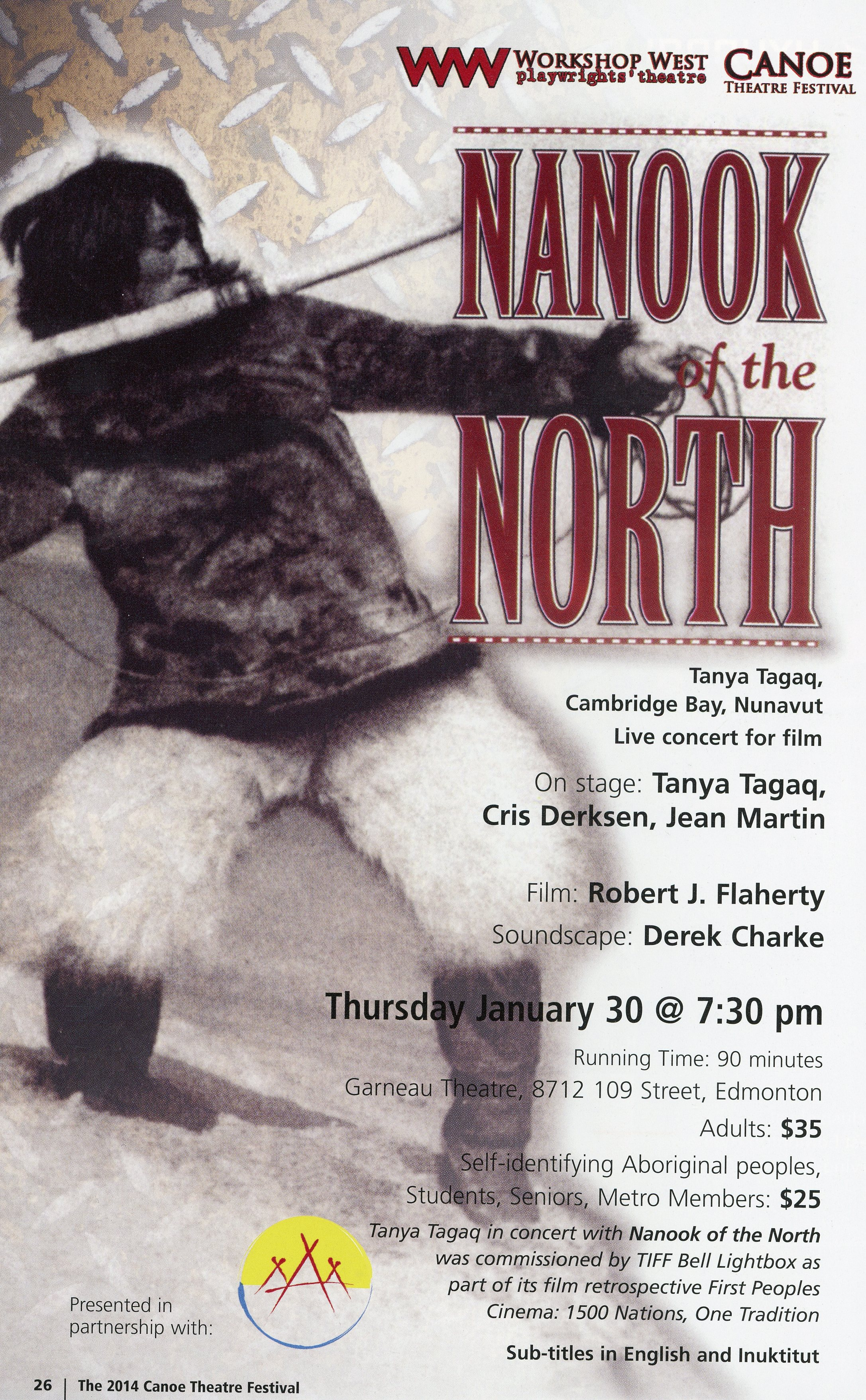 The Canoe Theatre Festival (January 2014)-Production Information-Nonook of the North_JPEG.jpg