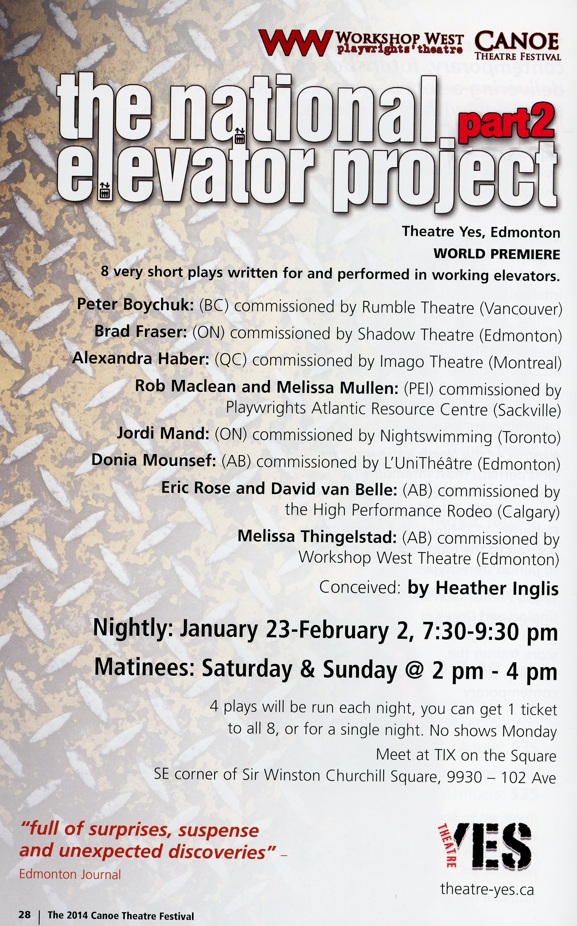 The Canoe Theatre Festival (January 2014)-Production Information-The National Elevator Project Part 2_JPEG.jpg