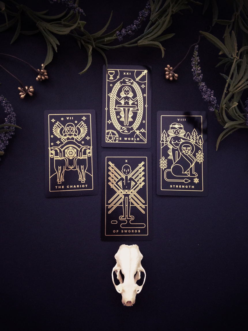 Golden Thread Tarot Deck by MilkMusket