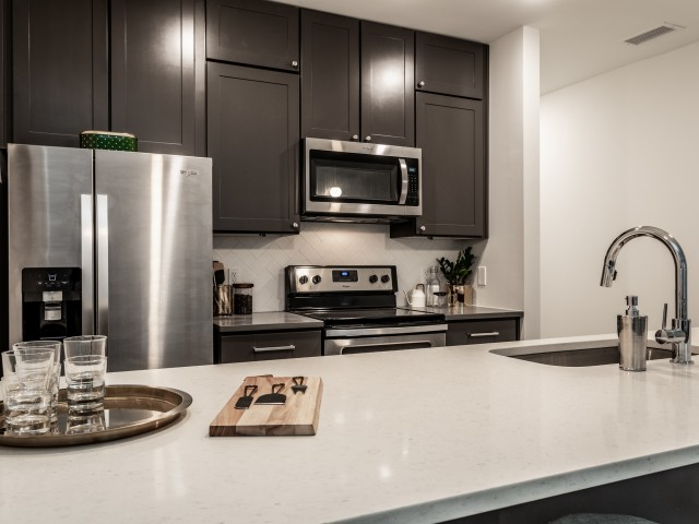 Kitchens and Vanities at The MK Apartments in Broadripple