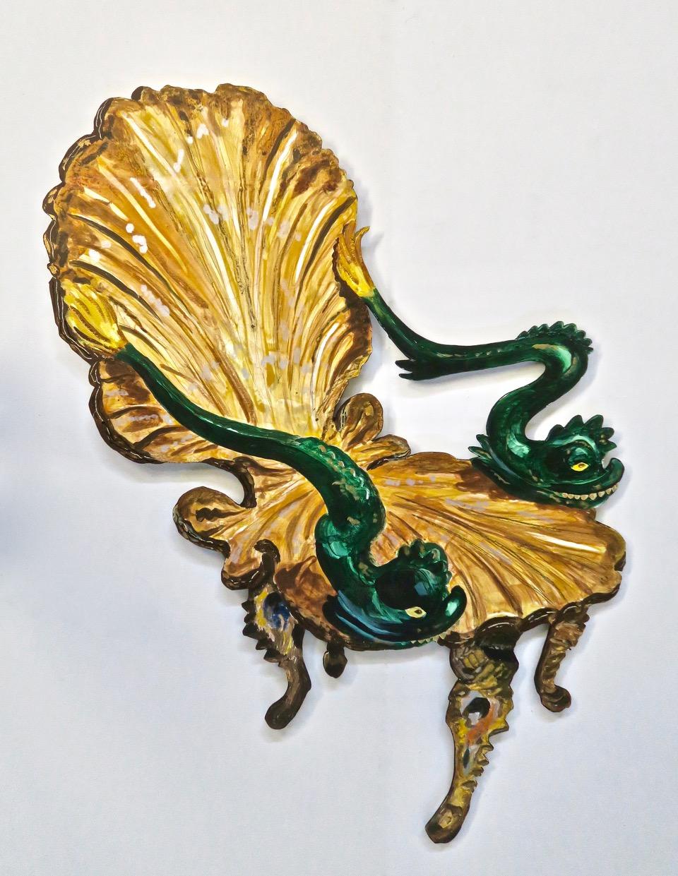 """Matisse's Venetian Chair , 2017.   65x47"""" Acrylic on Panel   © Roger Kizik"""