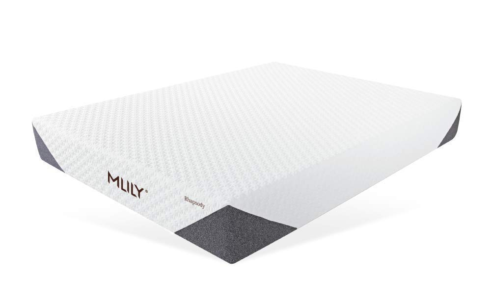 """Mlily rhapsody mattress   RHAPSODY LAYERS:    1.  Double Jacquard Fabric. Our premium knit fabric is designed to provide advanced breathability and comfort.   2.  Mlily AirCell Foam. Our specialized Gel AirCell Foam is scientifically engineered to provide a unique layer of our supreme Performance Memory Foam infused with our breathable, temperature-regulating AirCell Technology. 1.5""""   3.  Performance Memory Foam. Performance Memory Foam is designed to improve oxygen and blood circulation, helping you achieve the deep regenerative sleep you need. 1.5""""   4.  Flex Support Foam. We've added a final layer of our custom Flex Support Foam to provide a complete level of corner-to-corner support, delivering the deep regenerative sleep you need   10 Year Limited Warranty   sizes available  TWIN, TWIN XL, FULL, QUEEN, KING, CALIFORNIA KING"""