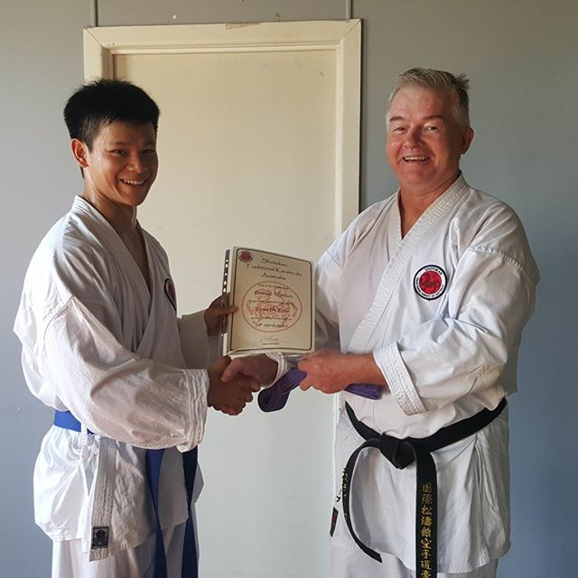 David grading to fourth kyu (purple belt) at Gold Coast in 2016 ⠀⠀⠀⠀⠀⠀⠀⠀⠀ ⠀⠀⠀⠀⠀⠀⠀⠀⠀ #karatelife #karatelifestyle #karatetraining #karategrading #shotokan #shotokankarate #shotokankaratedo #traditionalkarate #karate #karatedo #karateka