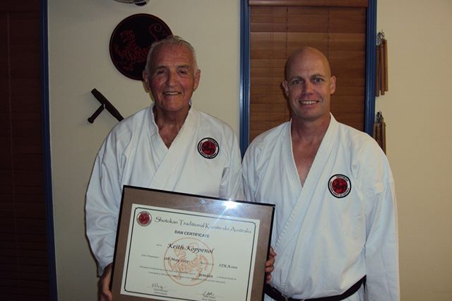Keith grading to Yondan (fourth black belt) at Gold Coast Dojo in 2012⠀⠀⠀⠀⠀⠀⠀⠀⠀ ⠀⠀⠀⠀⠀⠀⠀⠀⠀ #karatelife #karatelifestyle #karatetraining #karategrading #shotokan #shotokankarate #shotokankaratedo #traditionalkarate #karate #karatedo #karateka