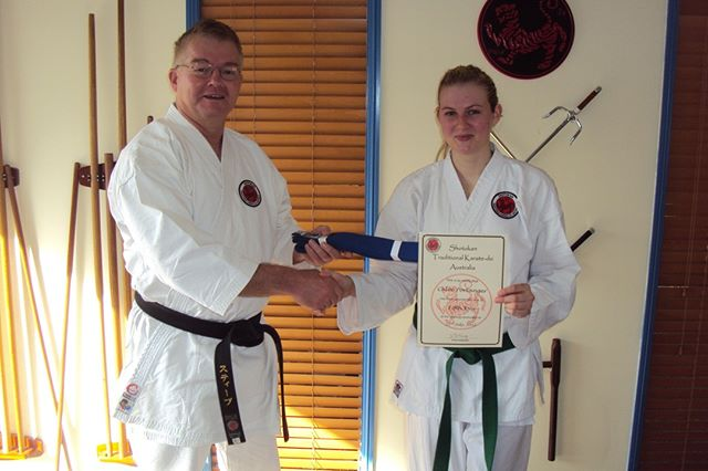 Chloe grading to fifth kyu (blue belt) at Gold Coast Dojo in 2012⠀⠀⠀⠀⠀⠀⠀⠀⠀ ⠀⠀⠀⠀⠀⠀⠀⠀⠀ #karatelife #karatelifestyle #karatetraining #karategrading #shotokan #shotokankarate #shotokankaratedo #traditionalkarate #karate #karatedo #karateka