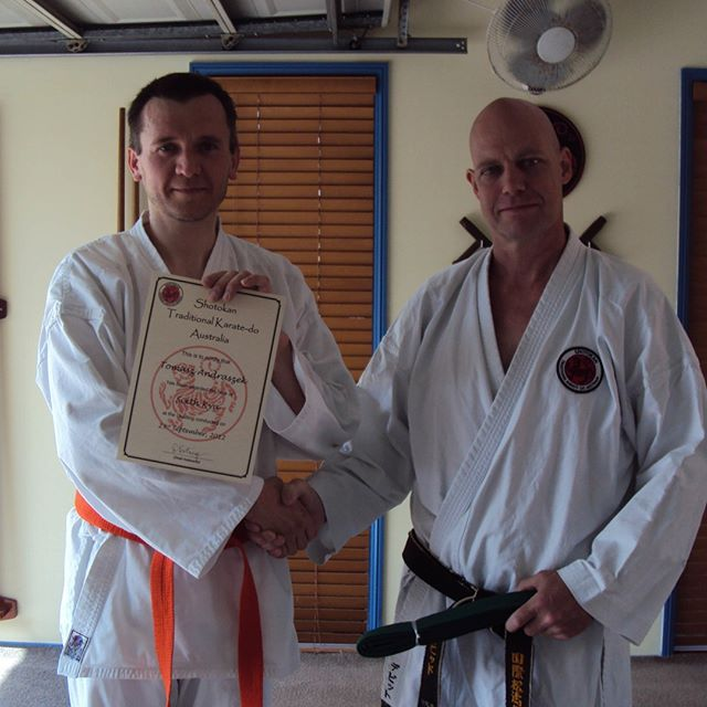 Tom grading to sixth kyu (green belt) at Gold Coast Dojo in 2012⠀⠀⠀⠀⠀⠀⠀⠀⠀ ⠀⠀⠀⠀⠀⠀⠀⠀⠀ #karatelife #karatelifestyle #karatetraining #karategrading #shotokan #shotokankarate #shotokankaratedo #traditionalkarate #karate #karatedo #karateka