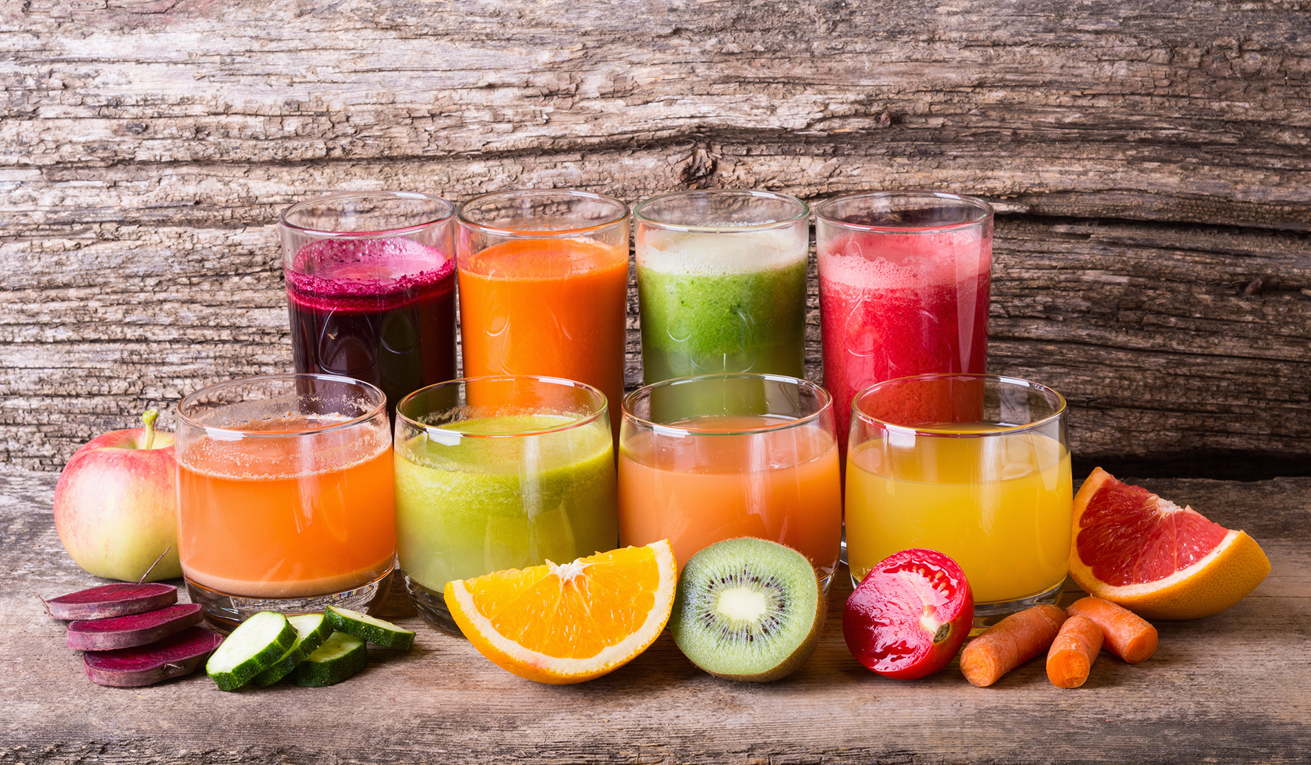 FreeGreatPicture.com-53701-a-line-of-fruit-juice-and-fruit-and-vegetables.jpg