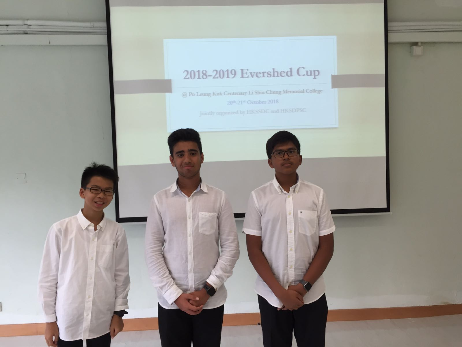 From left to right: Lucas Li, Mikhail Lulla, Tanush Agarwal    Not pictured: Audrey Lau, Shriya Syrinivasan