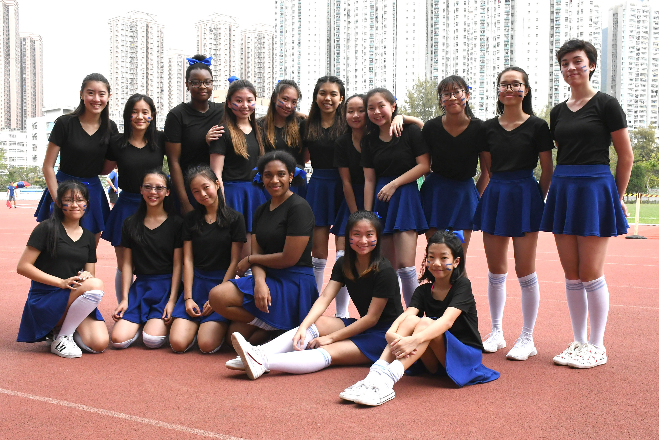 A picture of the Ming House cheerleading team
