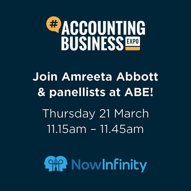 Join Amreeta Abbott and panellists for: Are Accreditations Worth What They Used to Be? Promises to be an interesting discussion about today's value and relevance of CA, CPA and FCPA accreditation. Don't miss this panel session: Accounting Business Expo at ICC Sydney, Thursday 21 March from 11.15am - 11.45am