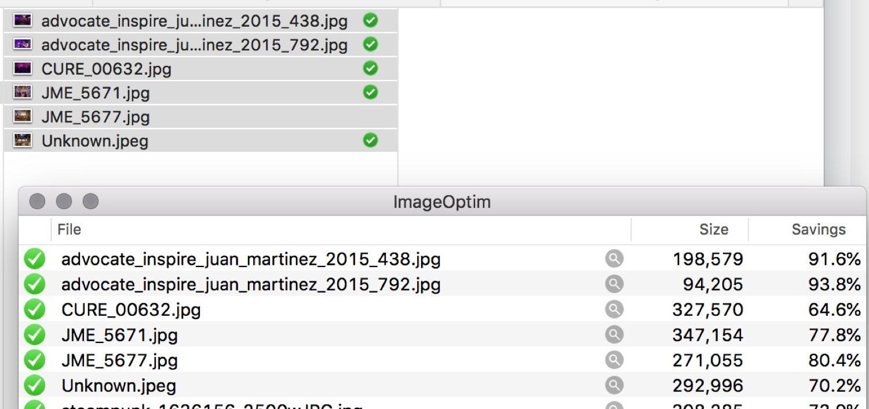 Running through ImageOptim