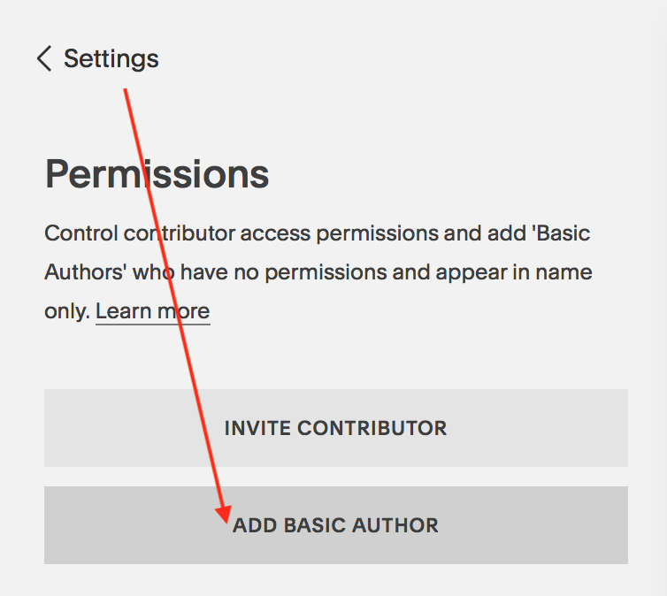 New Author Options