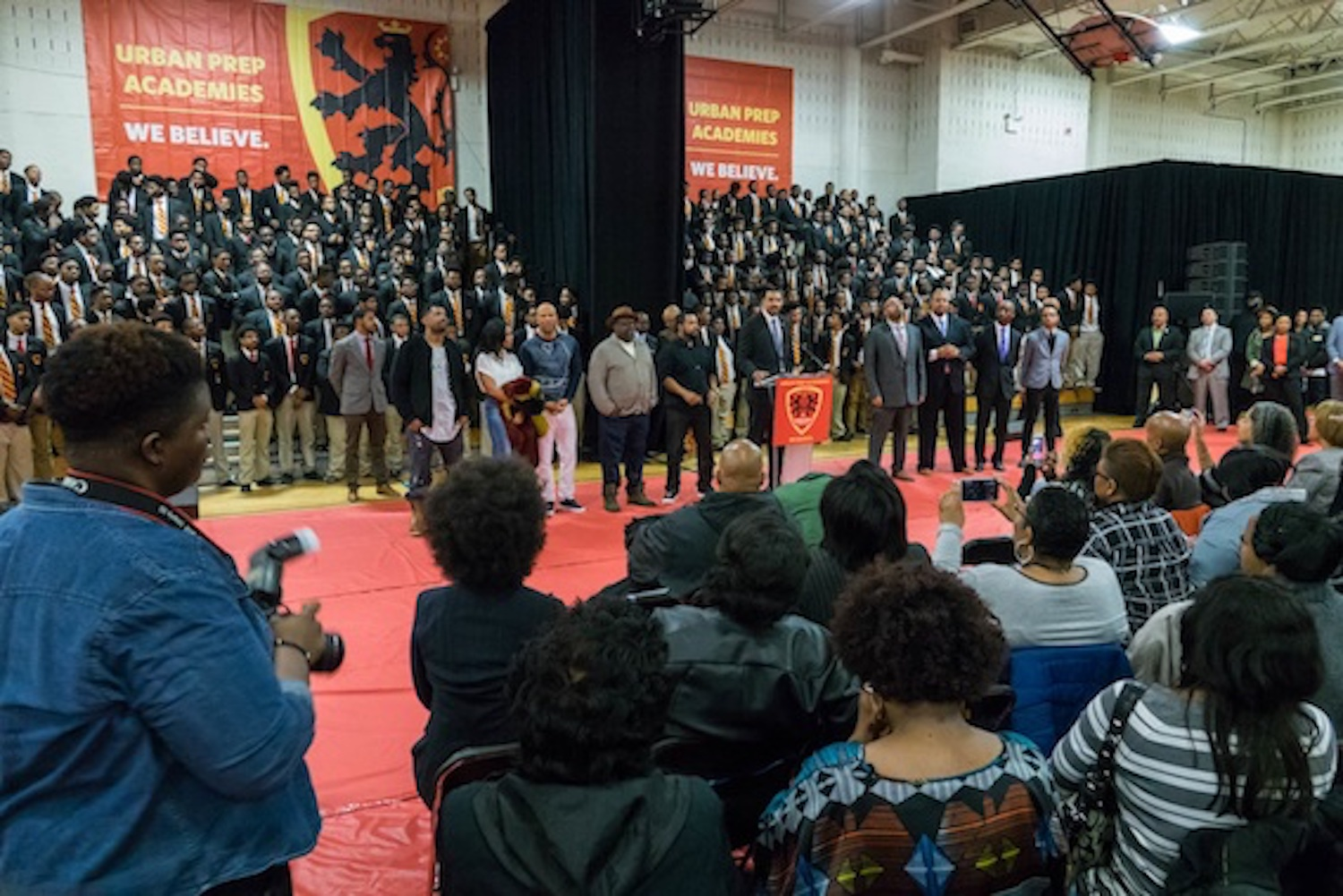 - Student achievement was celebrated with great enthusiasm, when JT client Urban Prep announced that 100% of its 252 seniors have been admitted to a four-year college or university.