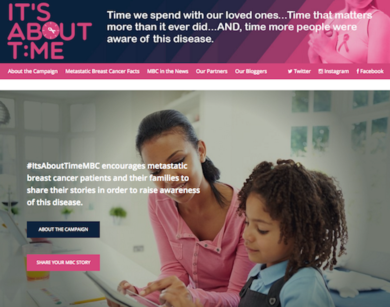 """- JT was proud to work with Gilda's Club Chicago to create and produce """"It's About Time MBC,"""" a story-based digital and social media campaign focused on raising awareness about metastatic breast cancer."""