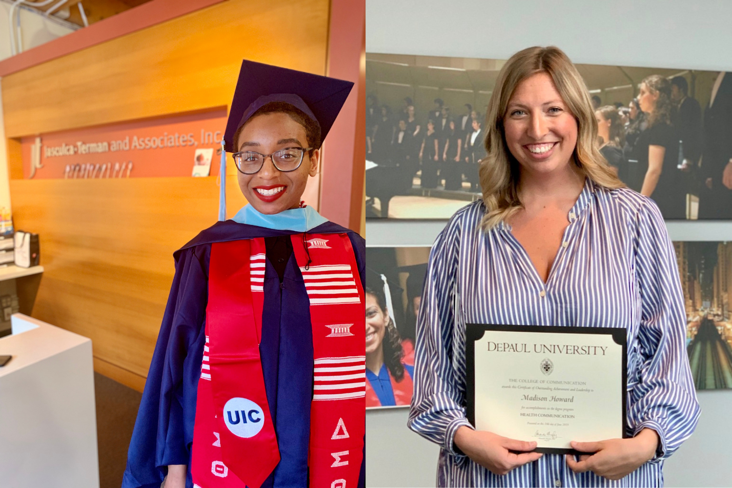 - JT Account Executive April McFadden and Jr. Account Executive Madison Howard reflect on balancing the demands of work and graduate school.