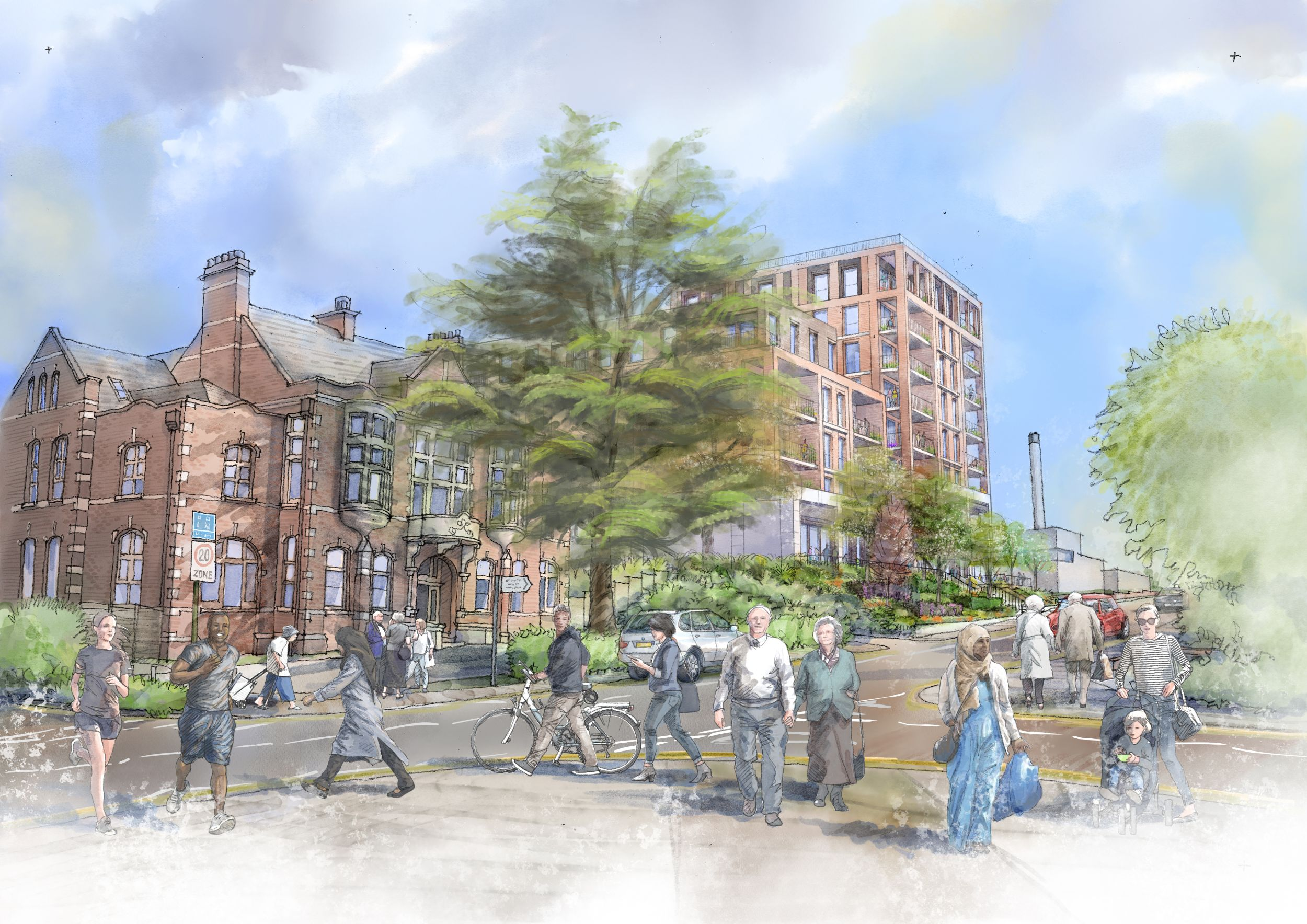 Coombe Road artist impression, KC+A Architects