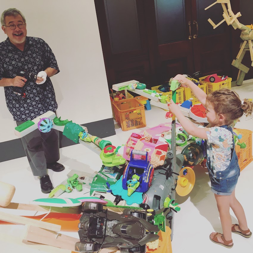 Jurassic Plastic with Hiroshi Fuji at Sydney Festival 2018. Workshop and public program for children and families