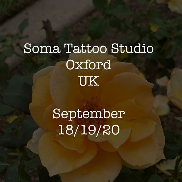 Happy to be back at @somatattoostudio for a few days in September!✨ Looking to take on handspan size, arms/legs (please note I can't cover a whole upper outer arm in a day generally)  Florals/Herbs/Fruits/Crystals/Pet Portraits ♥️ Please include all of the following info in your emails so you aren't missed out. •Name and contact info •Idea •Photo of the placement on your body (straight on photos taken by someone else - no reverse selfies or mirrors) •Inspiration reference if you have any or multiple high quality photos of your pets. ♥️ Email for the UK is:  makkalaroseuk@gmail.com  Please use subject line OXFORD ♥️#