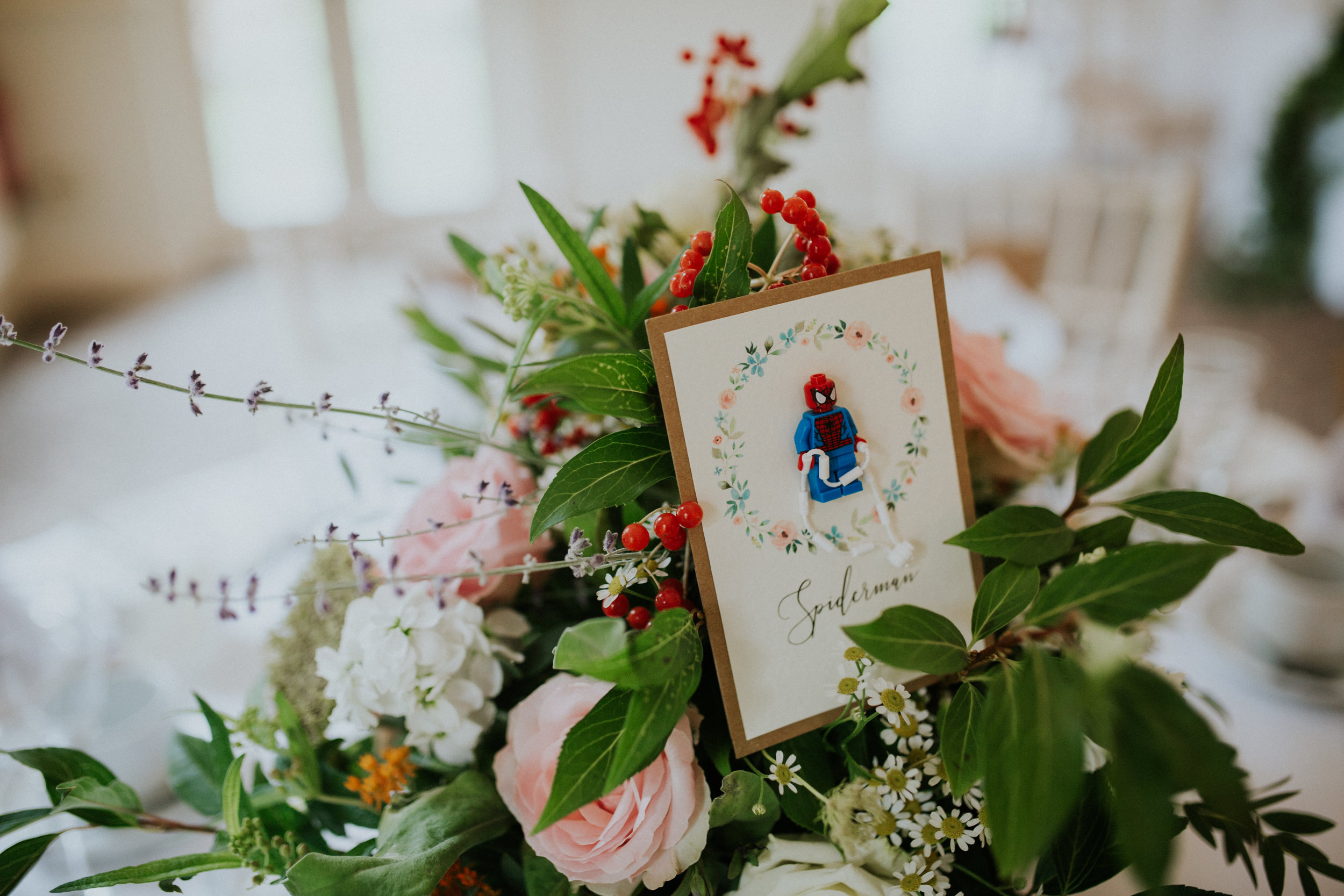 Image by  Sophie Collins Photography . Table card by  ByJo .  Flowers by me.