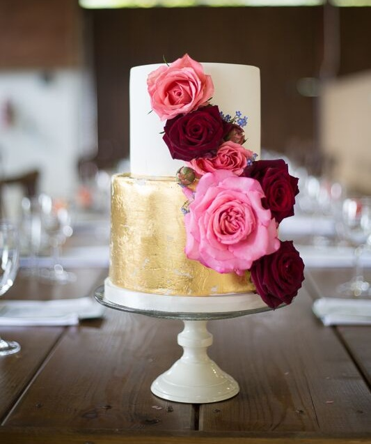 Cake by  The Sweet Cake Kitchen.  Image by  Naomi Llewellyn Photography.   Flowers by me.