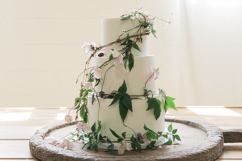 Cake by  The Sweet Cake Kitchen . Image by  Naomi LLewellyn Photography .  Flowers by me.