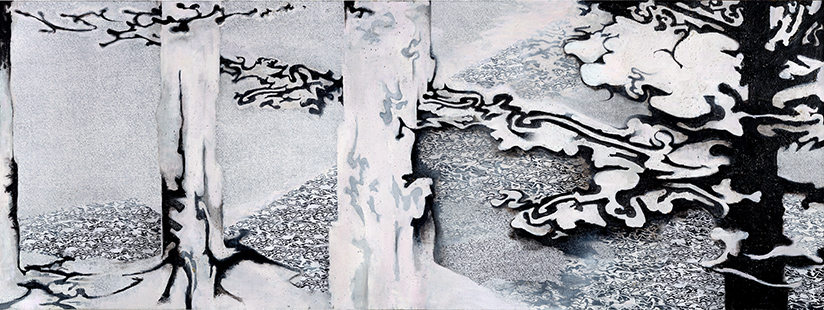 Downstream Cool Flow  2004, 173 x 457 cm